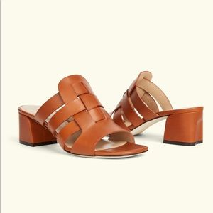 """M. Gemi """"The Mare"""" leather mule sandals"""